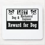 Ingeniero industrial del perro perdido tapete de raton