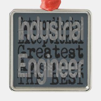 Ingeniero industrial Extraordinaire Adorno Navideño Cuadrado De Metal