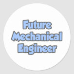 Ingeniero industrial futuro pegatina redonda