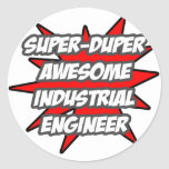 Ingeniero industrial impresionante estupendo de pegatina redonda