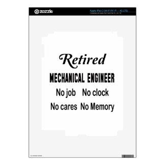 Ingeniero industrial jubilado ningún trabajo iPad 3 skin