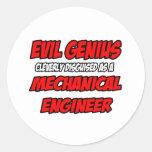 Ingeniero industrial malvado del genio… etiqueta