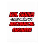 Ingeniero industrial malvado del genio… tarjeta postal