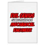 Ingeniero industrial malvado del genio… tarjetón