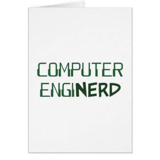 Ingeniero informático Enginerd Tarjeta De Felicitación