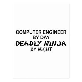 Ingeniero informático Ninja mortal Tarjeta Postal