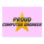 Ingeniero informático orgulloso tarjetas postales