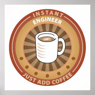 Ingeniero inmediato posters