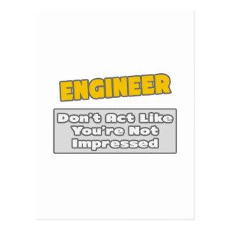 Ingeniero Le impresionan Tarjeta Postal