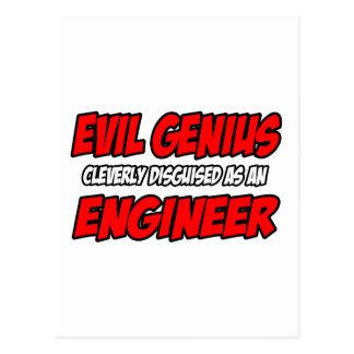 Ingeniero malvado del genio… postal