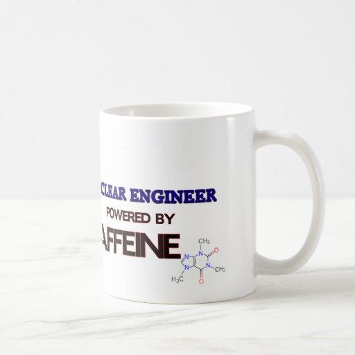 Ingeniero nuclear accionado por el cafeína taza básica blanca