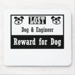 Ingeniero perdido del perro tapetes de raton
