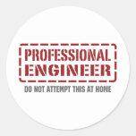 Ingeniero profesional etiquetas