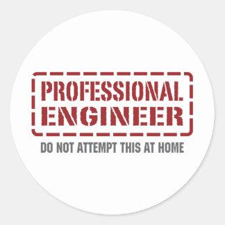 Ingeniero profesional etiquetas redondas