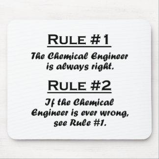 Ingeniero químico de la regla tapetes de ratones