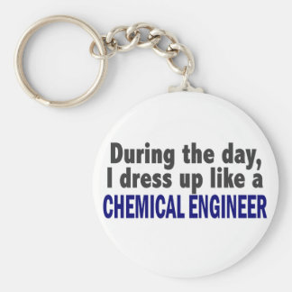 Ingeniero químico durante el día llavero redondo tipo pin
