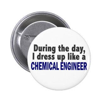 Ingeniero químico durante el día pin redondo 5 cm
