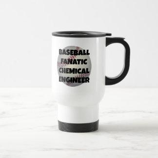 Ingeniero químico fanático del béisbol taza de viaje