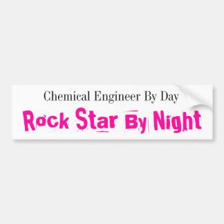 Ingeniero químico por día, estrella del rock por n pegatina para auto