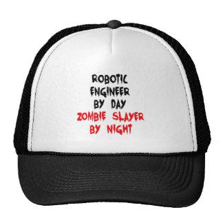 Ingeniero robótico del asesino del zombi gorros bordados