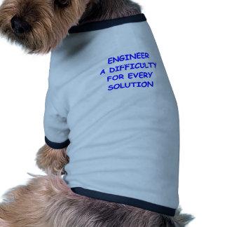 ingeniero camiseta con mangas para perro