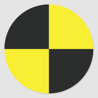 ingeniero simulado del punto de la medida pegatina redonda