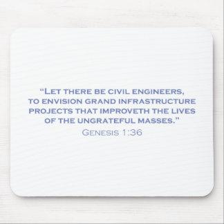 Ingenieros civiles/génesis alfombrillas de ratones