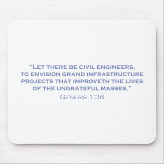 Ingenieros civiles/génesis tapetes de raton