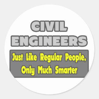 Ingenieros civiles… más elegantes pegatina redonda