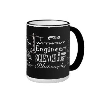 Ingenieros contra la taza del lema de la filosofía