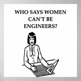 ingenieros de las mujeres posters