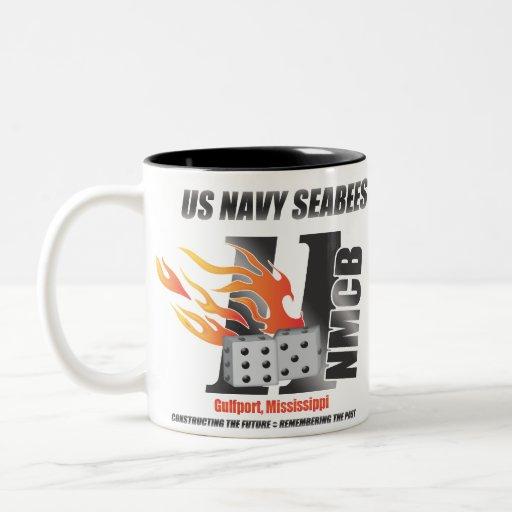 Ingenieros des infanteria de marina de la marina d tazas de café