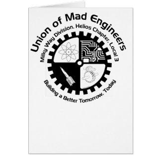 Ingenieros enojados Notecard Tarjeta De Felicitación