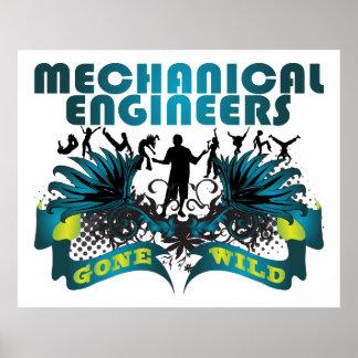Ingenieros industriales idos salvajes póster