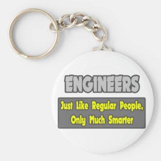Ingenieros… más elegantes llavero redondo tipo pin