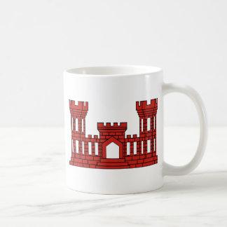 Ingenieros militares - rojo taza de café