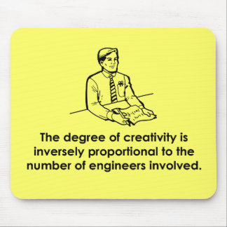 Ingenieros y creatividad tapetes de ratón