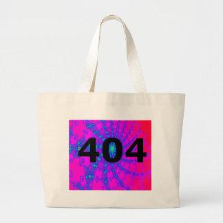 Ingenio psicodélico desorientado 404 bolsa tela grande