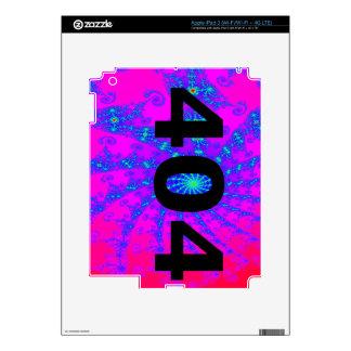 Ingenio psicodélico desorientado 404 iPad 3 skins