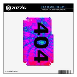 Ingenio psicodélico desorientado 404 iPod touch 4G skins