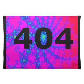 Ingenio psicodélico desorientado 404 mantel individual