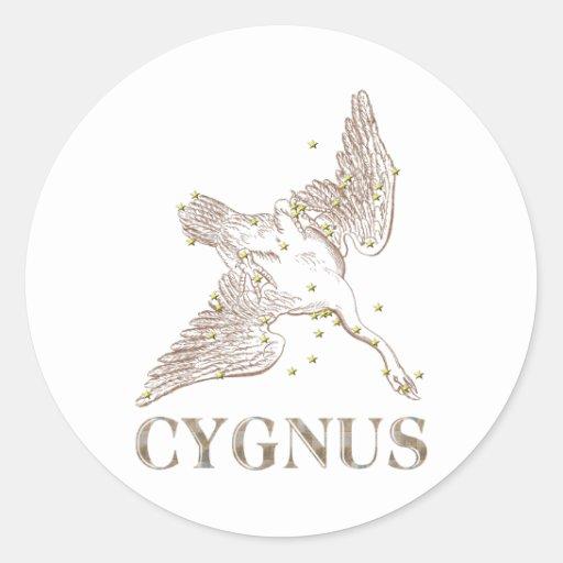 INGENIOS: Cygnus Pegatina Redonda