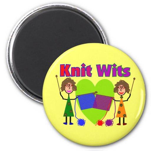 Ingenios de punto--Dos señora Knitters Iman Para Frigorífico