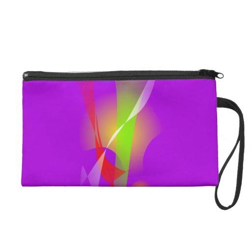 Ingenuity Purple Wristlet Clutch