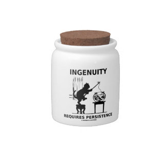 Ingenuity Requires Persistence Cat Attitude Candy Jars