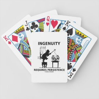 Ingenuity Requires Persistence (Cat Attitude) Bicycle Playing Cards