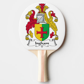 Ingham Family Crest Ping Pong Paddle