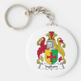 Ingham Family Crest Basic Round Button Keychain