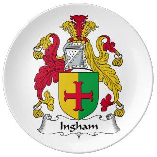 Ingham Family Crest Porcelain Plate