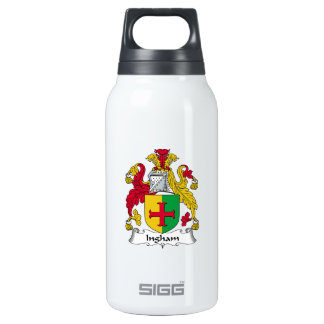 Ingham Family Crest 10 Oz Insulated SIGG Thermos Water Bottle